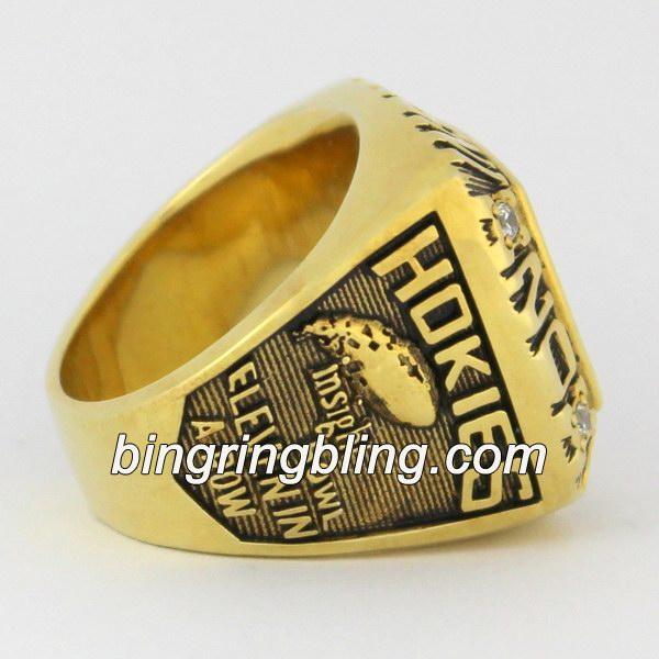 2003 Virginia Tech Hokies Insight Bowl Championship Ring